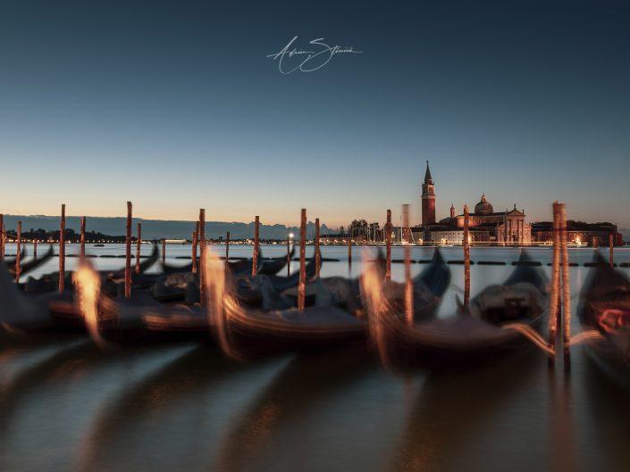 Venice gondolas in Italy